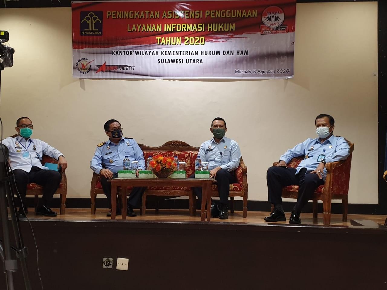 Kantor Wilayah Kemenkumham Provinsi Sulut gelar kegiatan Peningkatan Asistensi Penggunaan Layanan In
