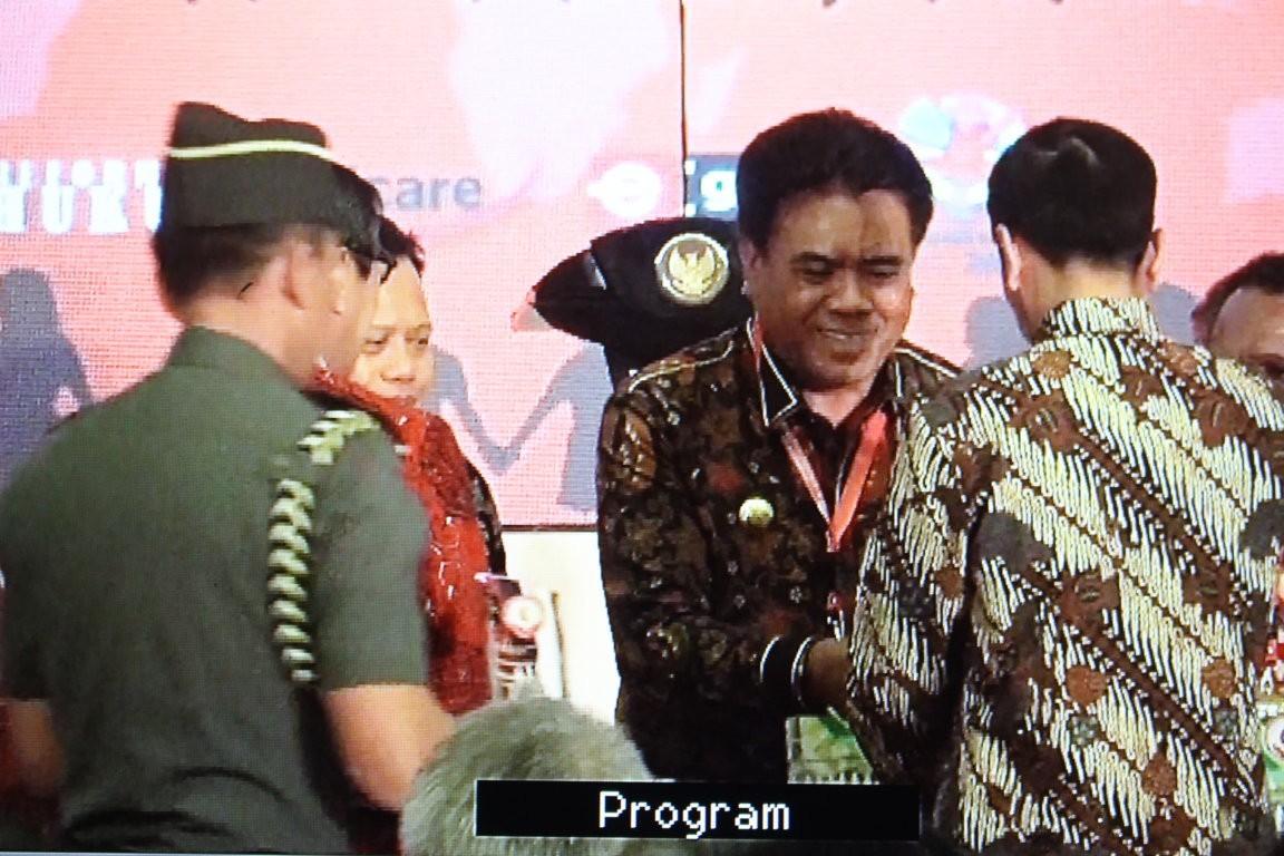 Kabupaten Kepulauan Sangihe untuk yang Ketiga Kalinya mendapat penghargaan sebagai Kabupaten peduli