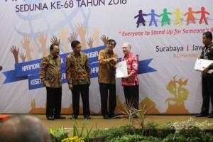 Kabupaten Kepulauan Sangihe untuk yang kedua kalinya mendapat penghargaan sebagai Kabupaten peduli H