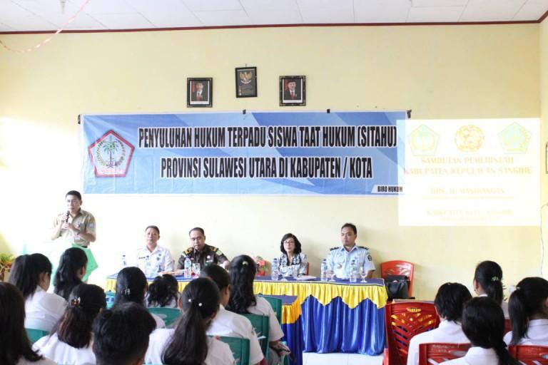 Pemerintah Prov. Sulawesi Utara laksanakan penyuluhan hukum terpadu di Kab. Kep. Sangihe